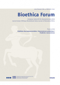 Bioethica Forum 2015 / Volume 8 / No. 4