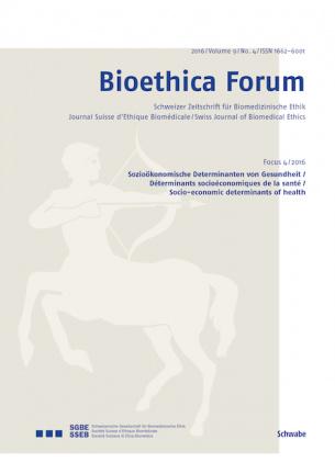 Bioethica Forum / Volume 9 / No. 4