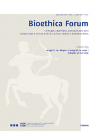 Bioethica Forum 2014 / Volume 7 / No. 2