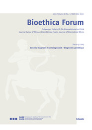 Bioethica Forum 2013 / Volume 6 / No. 3