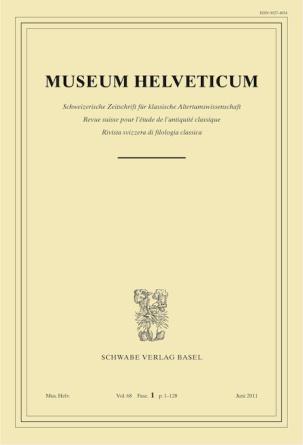 Museum Helveticum - Vol. 68 Fasc. 1