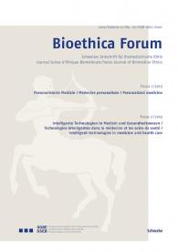 Bioethica Forum / Volume 12 / No. 1-2