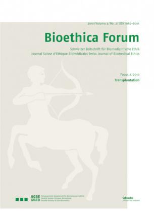 Bioethica Forum 2010 / Volume 3 / No. 2