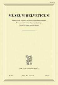 Museum Helveticum - Vol. 70 Fasc. 1