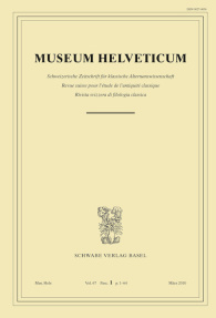 Museum Helveticum - Vol. 67 Fasc. 1