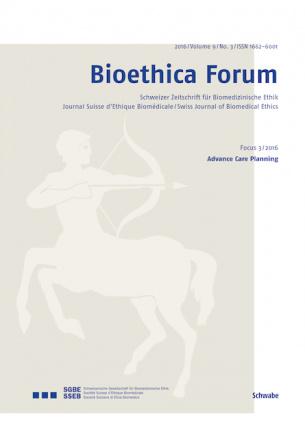 Bioethica Forum / Volume 9 / No. 3