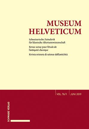 Museum Helveticum - Vol. 76 Fasc. 1