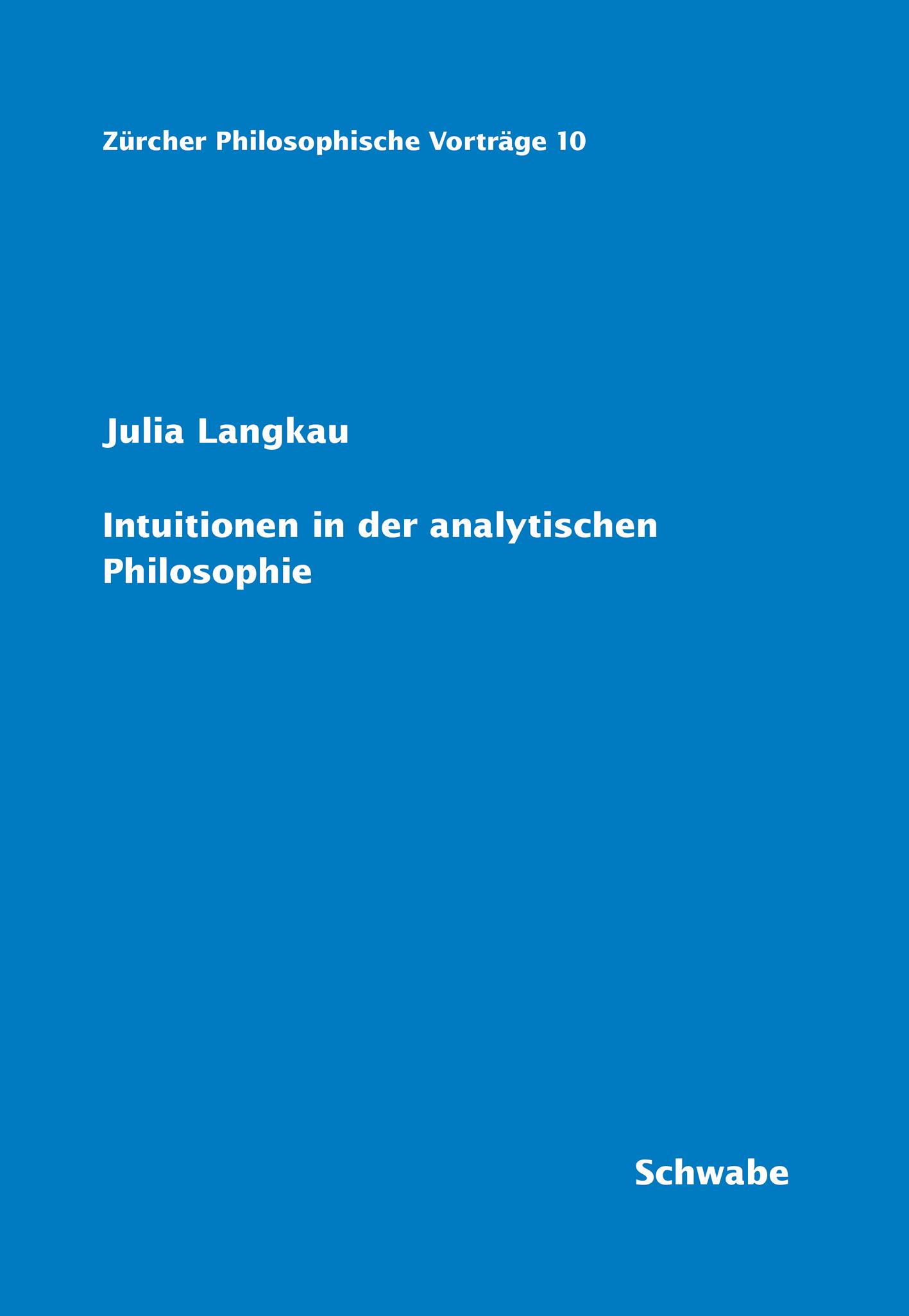 Zürcher Philosophische Vorträge (E-Book-Reihe)