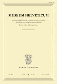 Museum Helveticum - Vol. 74 Fasc. 2