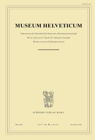 Museum Helveticum - Vol. 67 Fasc. 4