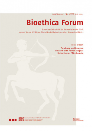 Bioethica Forum 2009 / Volume 2 / No. 2