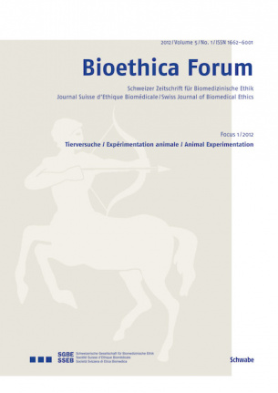 Bioethica Forum 2012 / Volume 5 / No. 1