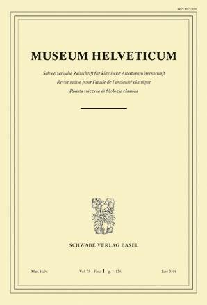 Museum Helveticum - Vol. 73 Fasc. 1