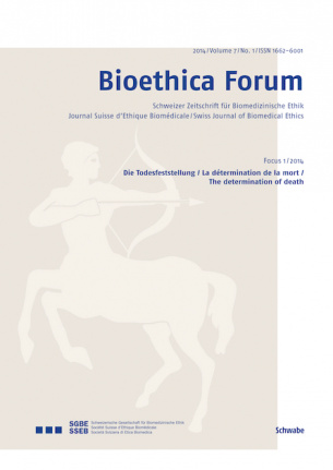 Bioethica Forum 2014 / Volume 7 / No. 1