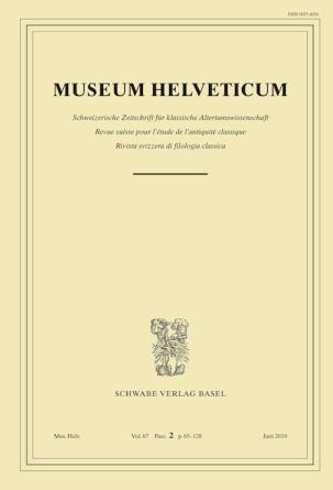 Museum Helveticum - Vol. 67 Fasc. 2