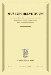 Museum Helveticum - Vol. 68 Fasc. 2