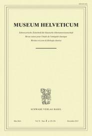 Museum Helveticum - Vol. 70 Fasc. 2