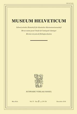 Museum Helveticum - Vol. 75 Fasc. 2