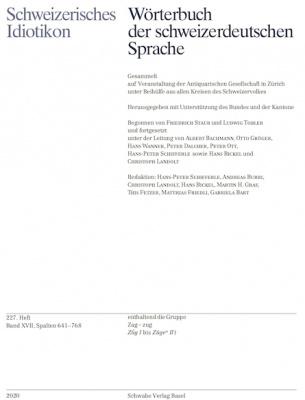 Schweizerisches Idiotikon, Band XVII, Heft 227