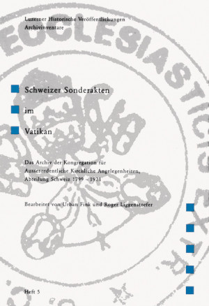 Luzerner Historische Veröffentlichungen. Archivinventare