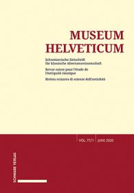 Museum Helveticum - Vol. 77 Fasc. 1
