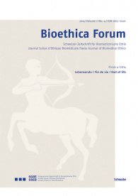 Bioethica Forum 2014 / Volume 7 / No. 4