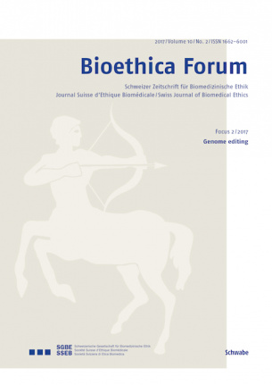 Bioethica Forum / Volume 10 / No. 2