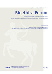 Bioethica Forum 2013 / Volume 6 / No. 1