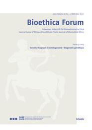 Bioethica Forum 2013 / Volume 6 / No. 3