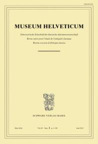 Museum Helveticum - Vol. 69 Fasc. 1