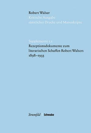Kritische Robert Walser Ausgabe, Supplemente