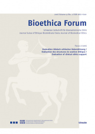 Bioethica Forum / Volume 9 / No. 2