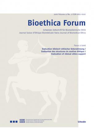 Bioethica Forum / Volume 9 / No. 2