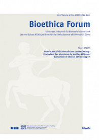 Bioethica Forum / Volume 9 / No. 1