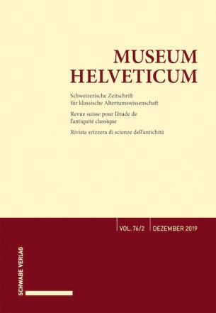 Museum Helveticum - Vol. 76 Fasc. 2