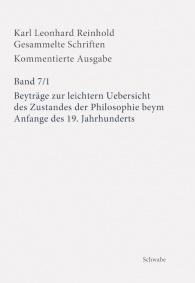 Beyträge zur leichtern Uebersicht des Zustandes der Philosophie beym Anfange des 19. Jahrhunderts