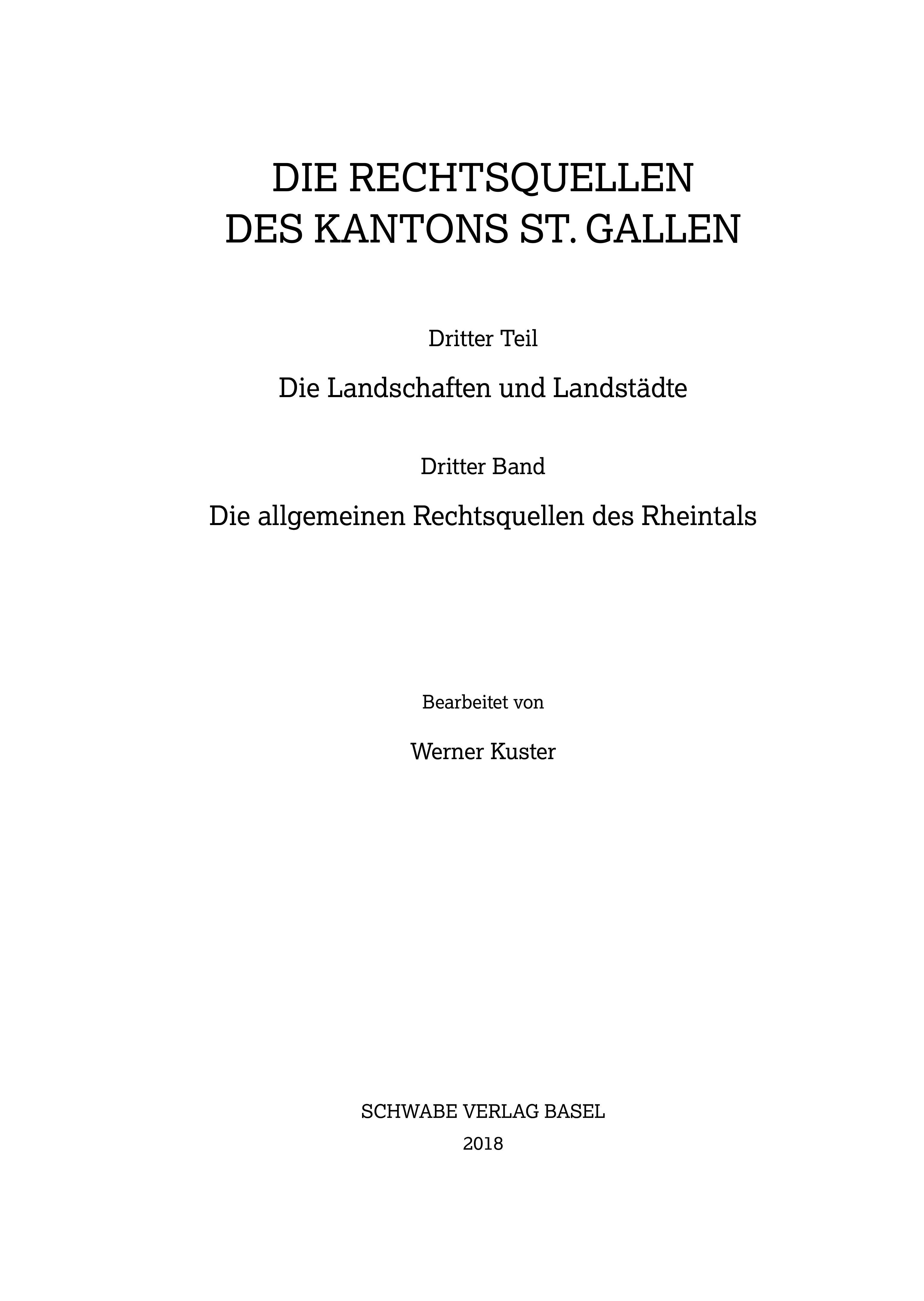 Sammlung Schweizerischer Rechtsquellen / Les sources du droit suisse / Le fonti del diritto svizzero