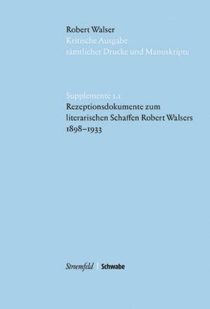 Kritische Robert Walser-Ausgabe, Supplemente
