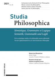 Sémiotique, Grammaire et Logique / Semiotik, Grammatik und Logik