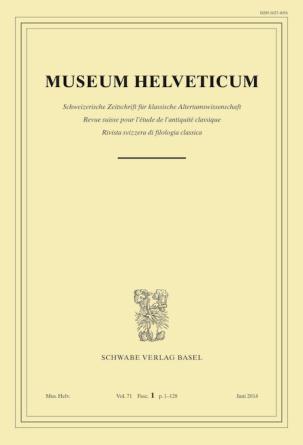 Museum Helveticum - Vol. 71 Fasc. 1