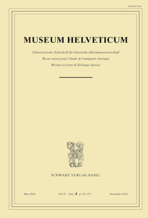 Museum Helveticum - Vol. 66 Fasc. 4