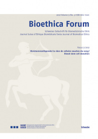 Bioethica Forum 2012 / Volume 5 / No. 3