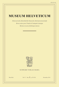 Museum Helveticum - Vol. 71 Fasc. 2