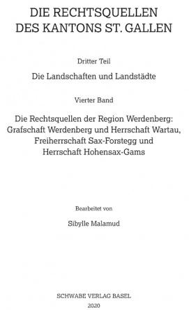 Die Rechtsquellen der Region Werdenberg