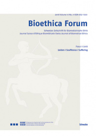 Bioethica Forum / Volume 11 / No. 1