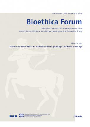 Bioethica Forum 2011 / Volume 4 / No. 2