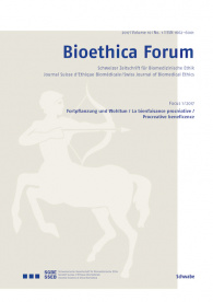 Bioethica Forum / Volume 10 / No. 1