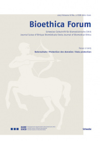 Bioethica Forum 2015 / Volume 8 / No. 2