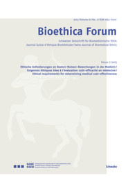 Bioethica Forum 2013 / Volume 6 / No. 2