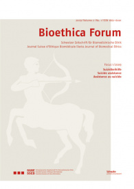 Bioethica Forum 2009 / Volume 2 / No. 1
